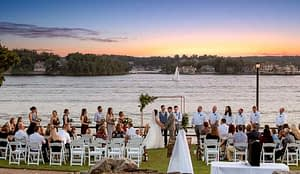Outdoor wedding venue on the Lake of the Ozarks at Lodge of Four Seasons